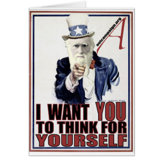 Darwin Wants You Greeting Card
