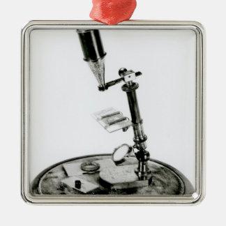 Darwin's microscope metal ornament