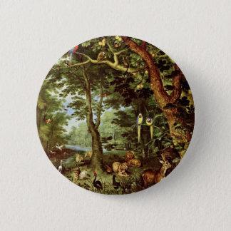 Das Paradies By Jan Brueghel The Elder (Best Quali 6 Cm Round Badge