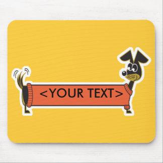 Daschund Dog Customizable, <YOUR TEXT> Mouse Pad