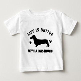 daschund dog design baby T-Shirt