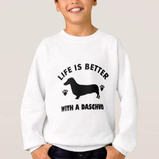 daschund dog design sweatshirt