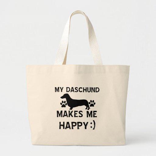 Daschund dog designs tote bag