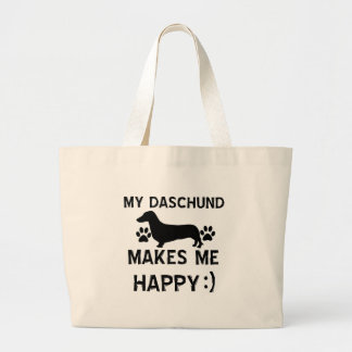 Daschund dog designs jumbo tote bag