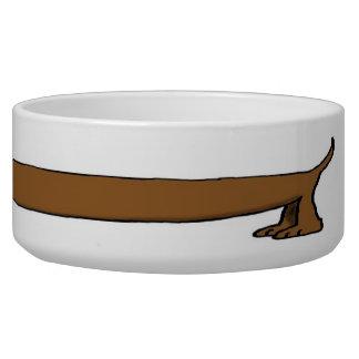Daschund dog dish dog water bowls