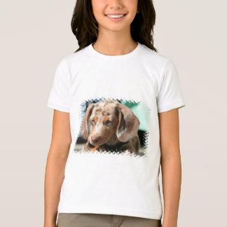 Daschund Dog Girl's T-Shirt