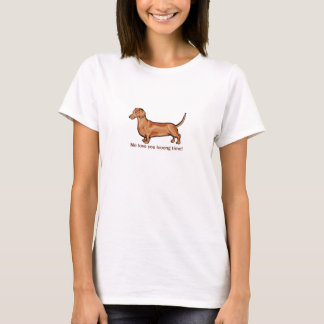 "Daschund ""Me love you long time"" T-Shirt"