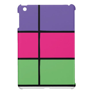 """DASCK_TOP"" Purple, Pink, & Green Square Patter Cover For The iPad Mini"