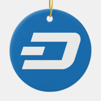 Dash Coin Circle Hanging Ornament