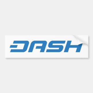 Dash Digital Cash Logo Symbol Coin Bumper Sticker