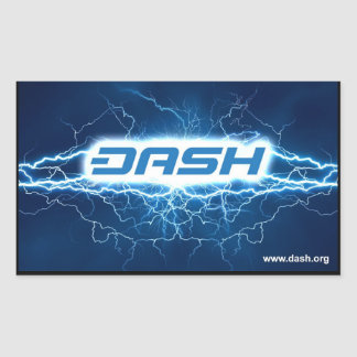 DASH Electric Sicker Rectangular Sticker