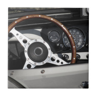 Dashboard of an old british classic car ceramic tile