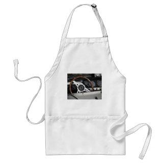 Dashboard of an old british classic car standard apron