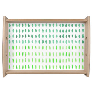 Dashed In Green Serving Tray