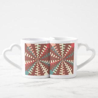Dashed vortex coffee mug set