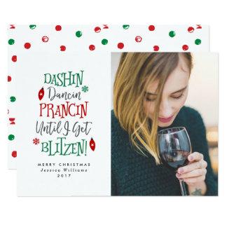 Dashin Dancin Prancin Funny Christmas Cards