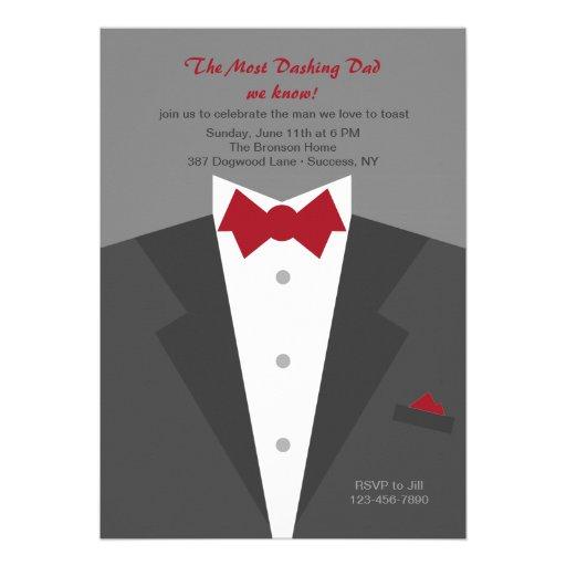 Dashing Dad Father's Day Invitation