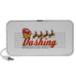 Dashing Of Christmas Spirit iPod Speakers