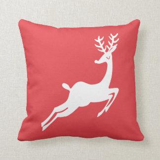 Dashing Reindeer Custom Colour Christmas Holiday Cushion