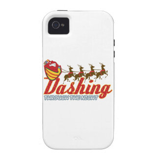 Dashing Through The Night Vibe iPhone 4 Cover