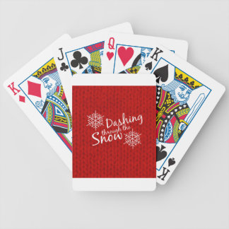 Dashing Through the Snow Bicycle Playing Cards