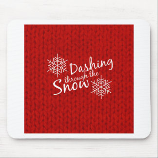 Dashing Through the Snow Mouse Pad