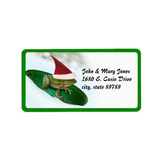 Dashing Through the Snow on a Lily Pad Address Label