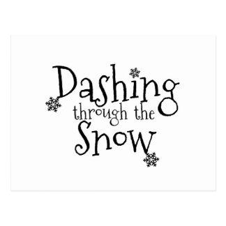 Dashing through the Snow | Postcard