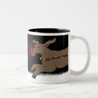 Dashing Through the Snow Rudolph Mug