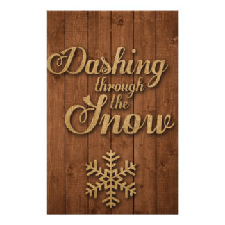 Dashing Through the Snow Stationery