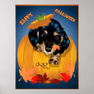 Dashund Halloween - Boo Poster
