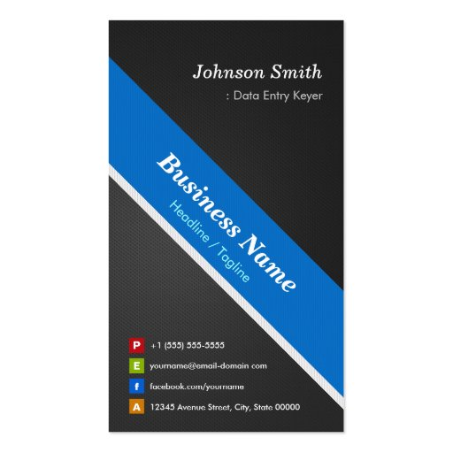 Data Entry Keyer - Premium Double Sided Business Card