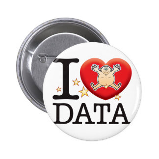 Data Love Man 6 Cm Round Badge