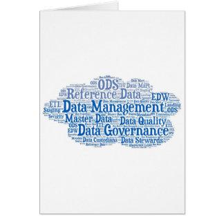 Data Management Cloud.jpg Greeting Card