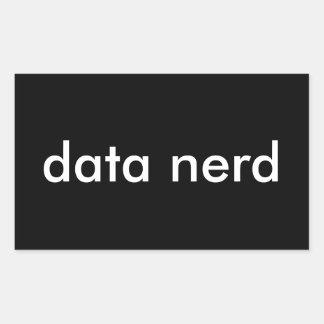 Data Nerd Rectangular Sticker