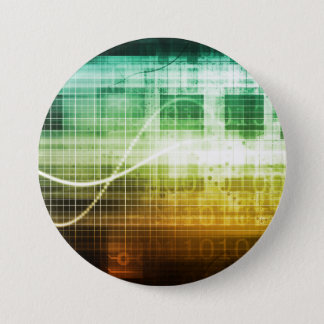 Data Protection and Internet Security Scanning 7.5 Cm Round Badge