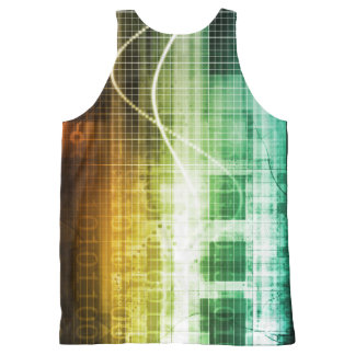 Data Protection and Internet Security Scanning All-Over Print Singlet