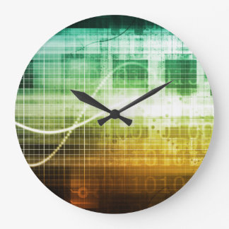 Data Protection and Internet Security Scanning Large Clock