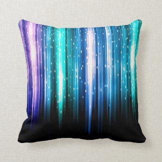 Data Rainbow Sparkles Flash Art Throw Pillow