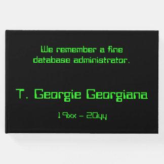 Database Administrator Condolences Guestbook