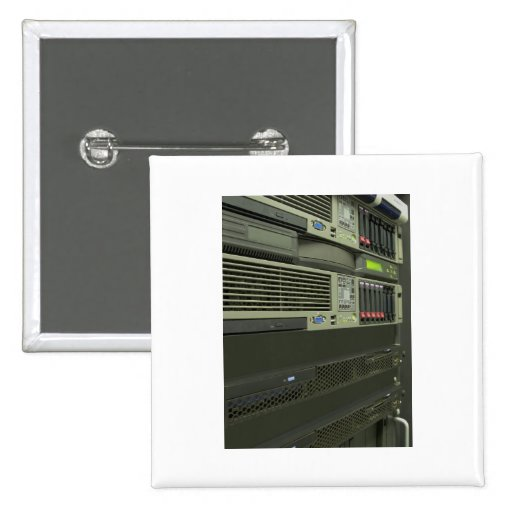 datacenter computer servers rack pinback button