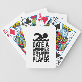 Date a Swimmer Bicycle Playing Cards