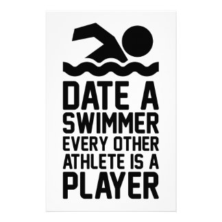 Date a Swimmer Stationery