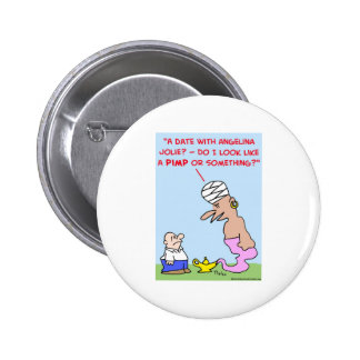 date angelina jolie pimp genie lamp 6 cm round badge