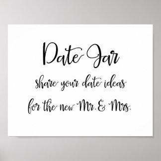 Date jar ideas wedding sign poster