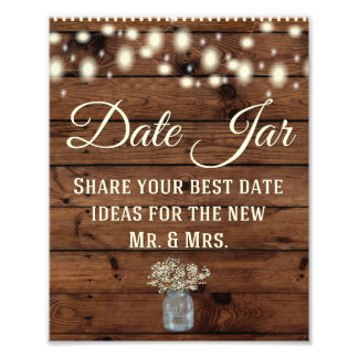 Date Jar, Wedding Sign, Wedding Decor, Rustic Photo Art