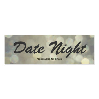 Date Night Cards Pack Of Skinny Business Cards
