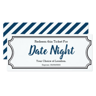 Date Night Gift Ticket Card