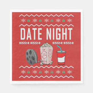 Date Night Ugly Christmas Sweater Disposable Serviette