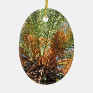 Date palm ceramic ornament